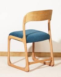 chaise traineau baumann chaise baumann forme traineau bois matériau bleu scandinave