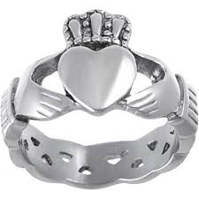 mens claddagh ring daxx men s stainless steel celtic claddagh ring walmart