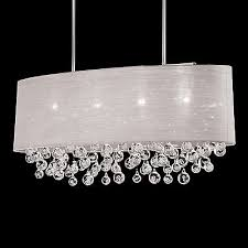 white drum l shade nib 4 l oval drum shade pendant with tear bubble balls chandelier
