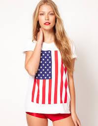 Flag Clothing Lyst American Apparel American Apparel Star And Stripes Flag Tshirt