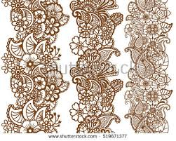brown and white paisley background free vector