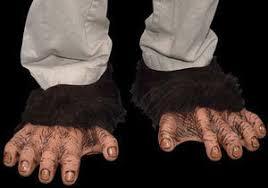 chimp monkey ape shoe covers halloween costume feet accessories