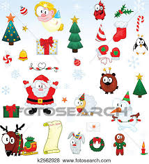 clip art of christmas symbols collection k2562928 search clipart