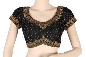 embroidered blouses designer silk embroidered blouse vijayalakshmi silks high