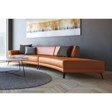 Curved Leather Sofas Curved Leather Sectional Sofas You U0027ll Love Wayfair