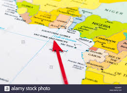map of sao tome arrow pointing sao tome and principe on the map of africa