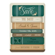 themed wedding invitations book themed wedding invitations announcements zazzle