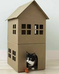 wall mounted cat stairs how to make a cardboard cat playhouse martha stewart