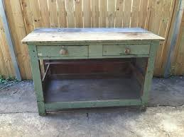 vintage retro industrial rustic wooden timber kitchen bench