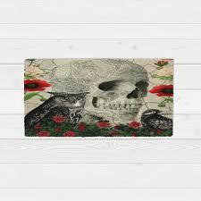 Skull Area Rug Skull Rug Gothic Owl Crow Poppy Sugar Skulls Skull Story 2