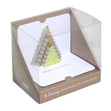 form tree 3d pop up christmas cards box of 5
