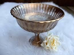 Pedestal Bowls For Centerpieces Metallic Bronze Gold Distressed Vase Wedding Centerpiece