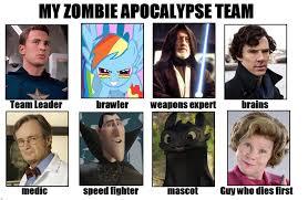 Zombie Team Meme - my zombie apocalypse team by viricyoshi on deviantart