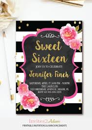 sweet 16 birthday invitations marialonghi