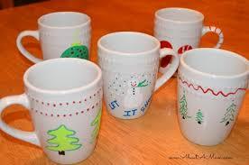 Decorating Porcelain Mugs Diy Holiday Fun With Elmer U0027s Painters Painted Mugs U0026 Cookie