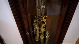 German Grandfather Clocks Winding A Grandfather Clock Youtube