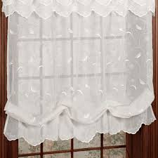 Fabric Window Shades by Hathaway Semi Sheer Balloon Shade