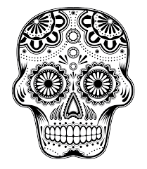 sugar skull coloring page open image in tab zoom in once