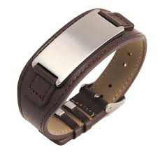 Customized Engraved Bracelets Amazon Com Free Engraving Quality Stainless Steel With Leather