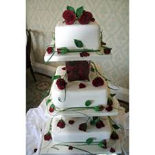 cheryl modern wedidng cakes decorated with handcrafted roses in