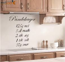 pandekager quotes wall stickers home decorations zooyoo8289 diy pandekager quotes wall stickers home decorations zooyoo8289 diy removable vinly cooking wall decals kitchen room wall decal stickers on the wall stickers on
