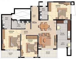 1800 Sq Ft Floor Plans 1800 Sq Ft 3 Bhk Floor Plan Image Prestige Group Bella Vista