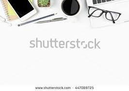 Office Desk Table Wood Office Desk Table Laptop Cup Stock Photo 583952221 Shutterstock