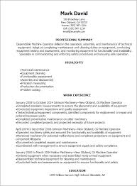 Assembly Resume Sample by Extraordinary Inspiration Machine Operator Resume 13 Machine