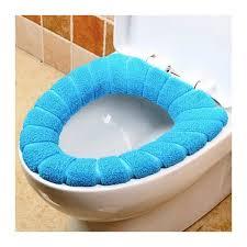 couvre siege wc 4367 couvre siège en tissu pour le wc diamètre 30 cm doux et chaud