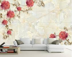 3d wall murals wallpaper picture more detailed picture about marble rose shading tv backdrop 3d wallpaper flower 3d stereoscopic wallpaper 3d wall murals wallpaper