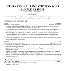 sample resume logistic manager best resumes curiculum vitae and