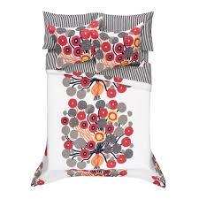 marimekko annansilmä white red grey percale bedding marimekko