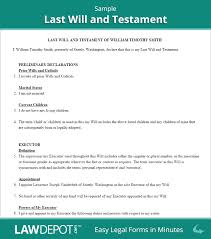 Template Wills by Last Will Testament Form Print Free Last Will Forms Us