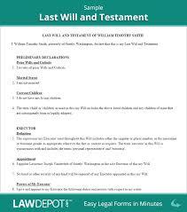 template wills last will testament form print free last will forms us