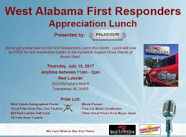 free lunch for first responders this tuscaloosa fire u0026 rescue