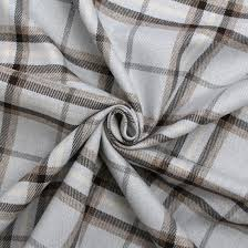 Traditional Upholstery Fabrics Brushed Faux Wool Plain Weave Tartan Traditional Upholstery Fabric
