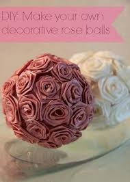 Decorative Spheres For Bowls Diy Make Your Own Decorative Rose Balls