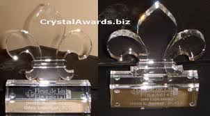 Personalized Paper Weight Gifts Fleur De Lis Glass Paperweight Crystal Awards Custom Awards