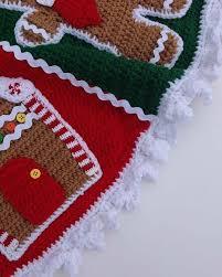 gingerbread tree skirt crochet pattern maggie s crochet