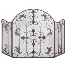 decorating stunning decorative wood fireplace screens design