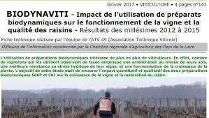 chambre r馮ionale d agriculture pays de la loire résultats très modestes d une expérimentation des effets viticoles
