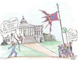 Us Flags At Half Mast Black Funny Guy Political Cartoons Wanted New Flag Or Find Good Help