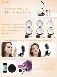 amazon com kedsum 1x 10x double sided led lighted makeup mirror