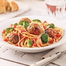cuisiner les brocolis spaghettis aux boulettes de dindon et brocoli recettes cuisine