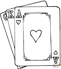 hearts ace coloring page free printable coloring pages