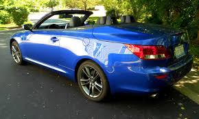 used lexus sports car convertible road test review 2014 lexus is250c f sport is top down