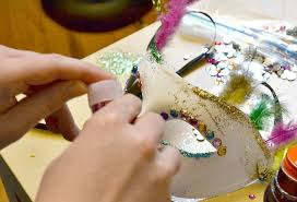 mardi gras mask decorating ideas decorated masquerade mask you can make in minutes