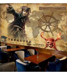popular pirate wallpaper buy cheap pirate wallpaper lots from 3d pirates of the caribbean movie wallpaper mural rolls for hotel restaurant bar ktv cafe shop