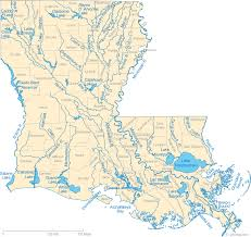 Louisiana Lakes images Map of louisiana lakes streams and rivers gif