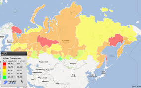 russia map by population russia map of population percent of russia by respublika